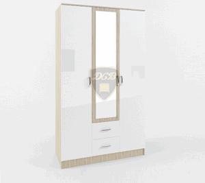 Шкаф 3-створчатый с ящиками и зеркалом Софи СШК1200.1