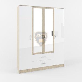Шкаф 4-створчатый с ящиками и зеркалом Софи СШК1600.1